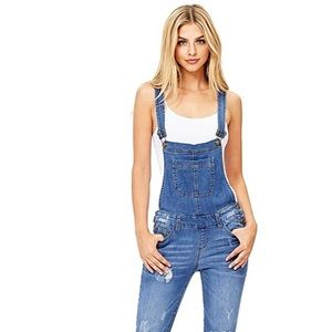 Wax jeans overalls